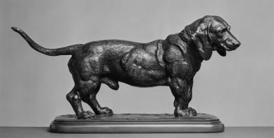 Basset in bronze (ca 1841) by Antoine-Louis Barye (1795-1875)