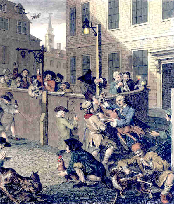 """First Stage of Cruelty"" by William Hogarth"